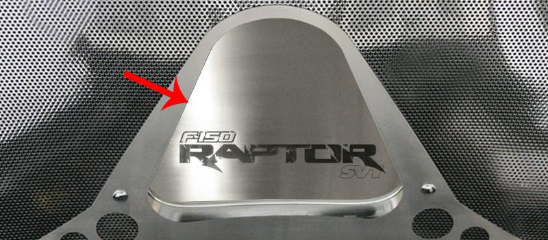 Ford Raptor - Hood Panel Etched Vanity Plate 2010-2014 American Car Craft