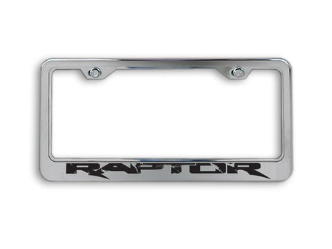 Ford Raptor - License Plate Frame with Laser Etched RAPTOR Lettering | Brushed Stainless