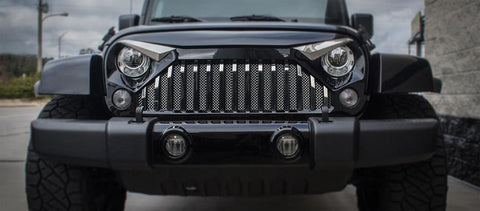 2007-18 Jeep Wrangler JK w/Gladiator Grille - Front Lower Chrome Mesh Grille | Stainless Steel