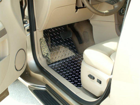HHR Floor Mats - Diamond Plate 2Pc Polished 2006-2008 American Car Craft