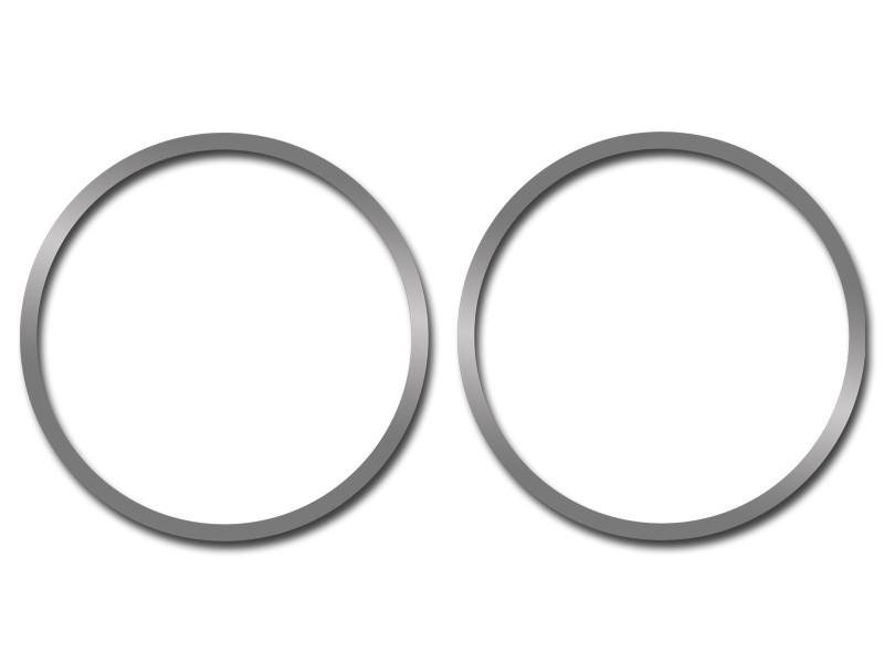 HHR Speaker Rings Polished Front 2Pc 2006-2012 American Car Craft