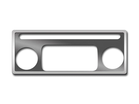Hummer H2 AC Plate Brushed w/Polished Ring 2Pc 2003-2007 American Car Craft