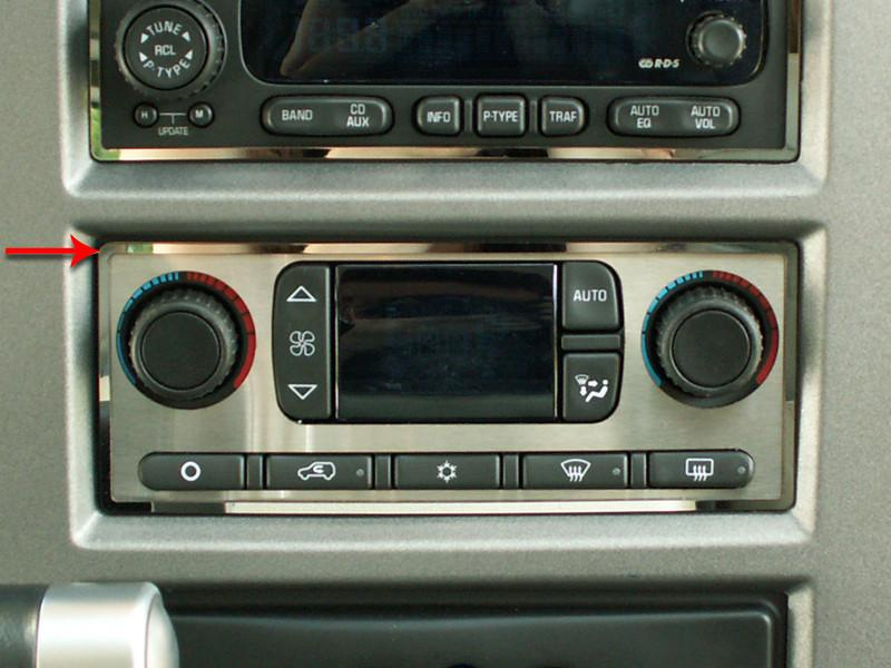 Hummer H2 AC Surround Ring Polished 2003-2007 American Car Craft