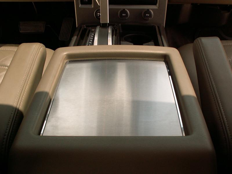 Hummer H2 Center Console Box Plate Brushed w/Polished Ring 2003-2007 American Car Craft