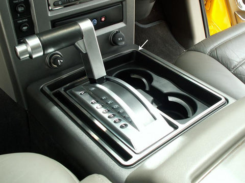Hummer H2 Center Console Shifter Surround Brushed 2003-2007