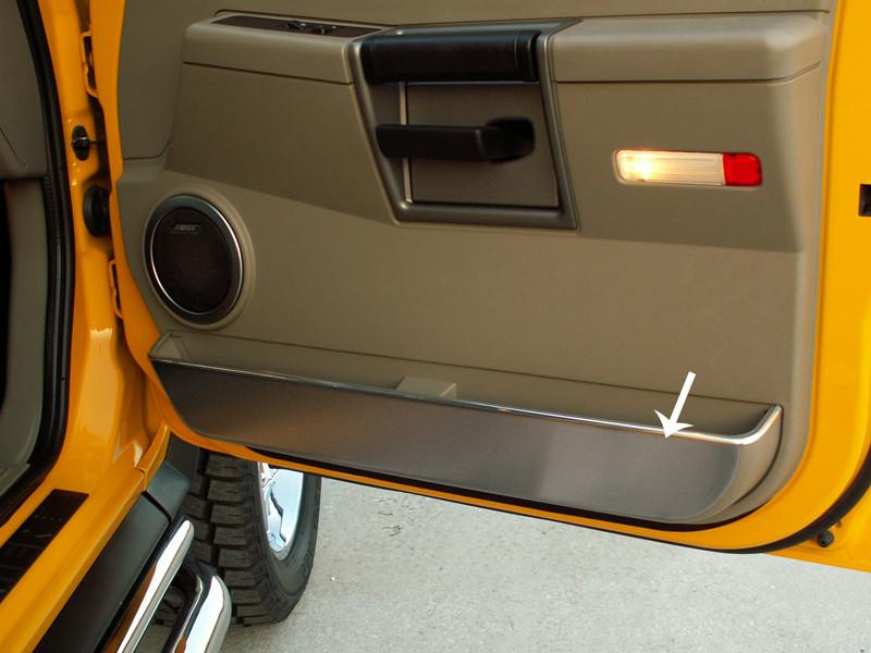 Hummer H2 Door Guards Front Brushed 2Pc 2003-2007 American Car Craft