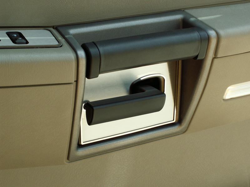 Hummer H2 Door Handle Plates Brushed w/Polished Rings 4Pc 2003-2007 American Car Craft