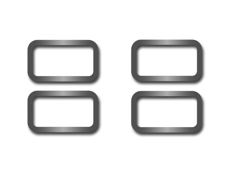 Hummer H2 Door Lock Trim Rings Polished 4Pc 2003-2007 American Car Craft