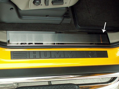 Hummer H2 Doorsills Inner Polished Front w/ Brushed Insert 2Pc 2003-2007 American Car Craft