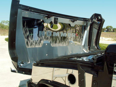 Hummer H2 Hood Panel 7Pc Polished/Brushed Flame Etched Illuminated 2003-2007