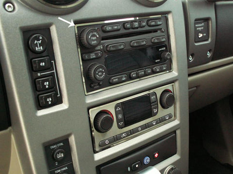 Hummer H2 Radio Surround Ring Polished 2003-2007