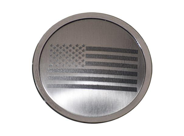 Jeep Wrangler 2007-18 JK & 2018+ JL - A/C Duct Trim Plates 4Pc Etched American Flag | Stainless Steel American Car Craft