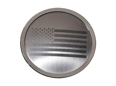 Jeep Wrangler 2007-18 JK & 2018+ JL - A/C Duct Trim Plates 4Pc Etched American Flag | Stainless Steel