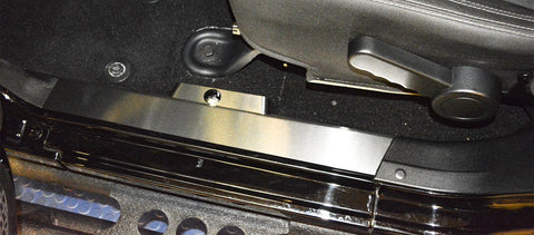 Jeep Wrangler 2007-18 JK - Front Inner Door Sills Satin Stainless incl Button Covers | 2PC