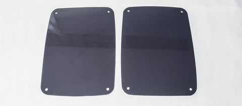 Jeep Wrangler Blackout Plexi Tail Light Covers (07-18 JK and JKU)