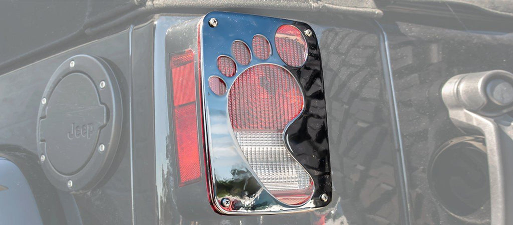 Jeep Wrangler Footprint Tail Light Covers (07-18 JK and JKU) American Car Craft