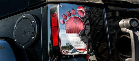 Jeep Wrangler Footprint Tail Light Covers (07-18 JK and JKU)