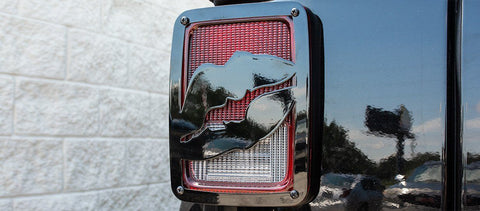 2007-18 Jeep Wrangler JK & JKU - Lips Tail Light Covers | Stainless Steel, Choose Finish
