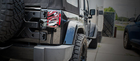 2007-18 Jeep Wrangler JK & JKU - Safari Tail Light Covers | Stainless Steel, Choose Finish