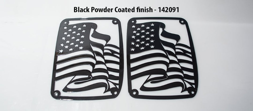 Jeep Wrangler US Flag Tail Light Covers (07-18 JK and JKU) American Car Craft