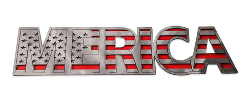 MERICA Polished Stainless Emblem | 1PC