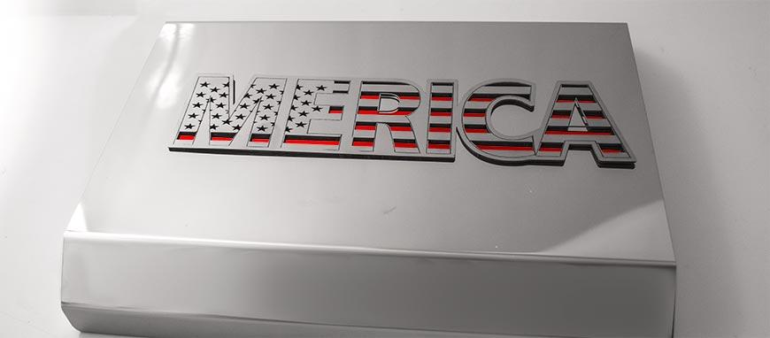 MERICA Polished Stainless Emblem | 1PC American Car Craft