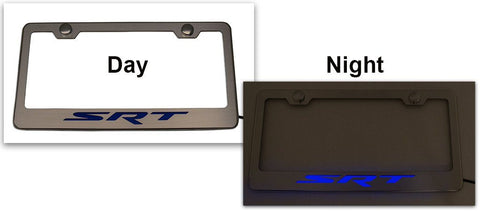 Custom Dodge SRT License Plate Frame | Choose Vinyl or LED Color