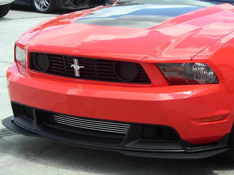 Mustang Boss 302 / California Special Lower Front Billet Grille Polished 2011-2013 only American Car Craft
