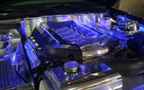 Mustang Engine Shroud Covers Illuminated 5.0 GT 9Pc Polished/Brushed 2011-2014 American Car Craft