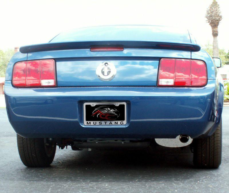 "Mustang License Plate Frame with ""MUSTANG"" Lettering in 2005-2009 Style American Car Craft"