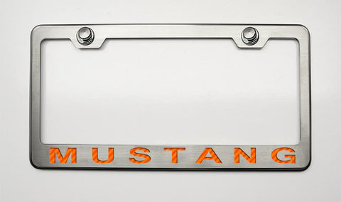 "Mustang License Plate Frame with ""MUSTANG"" Lettering in 2005-2009 Style"