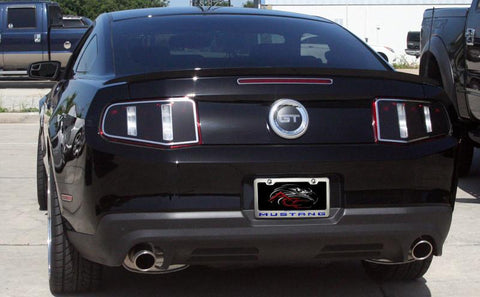 "Mustang License Plate Frame with ""MUSTANG"" Lettering in 2010-2013 Style"