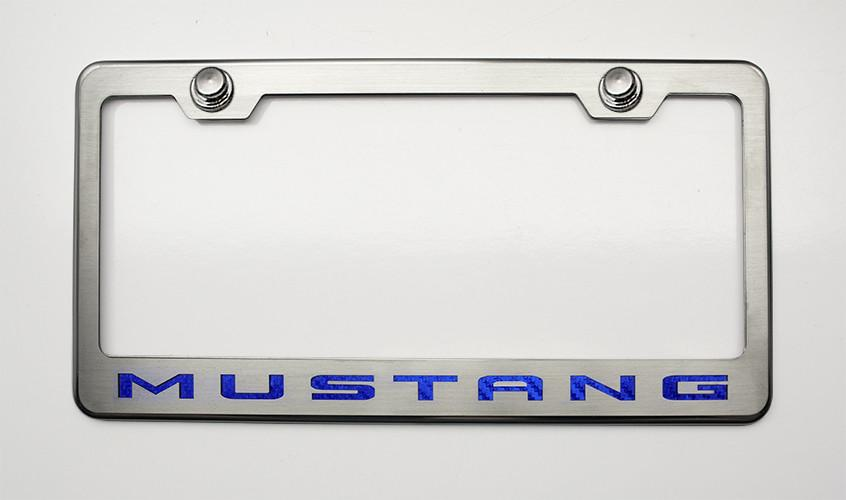 "Mustang License Plate Frame with ""MUSTANG"" Lettering in 2010-2013 Style American Car Craft"
