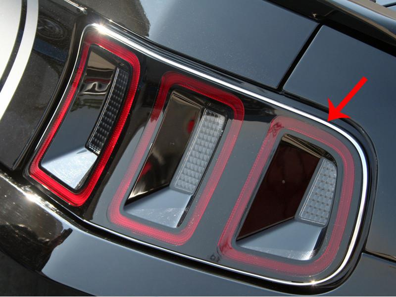 Mustang Taillight Chrome Vinyl Trim 2Pc 2010-2013 American Car Craft
