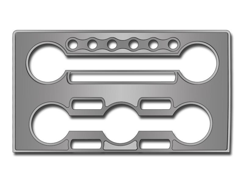 Nissan GT-R A/C & Radio Control Trim Plate Brushed/Polished 2010-2013 American Car Craft