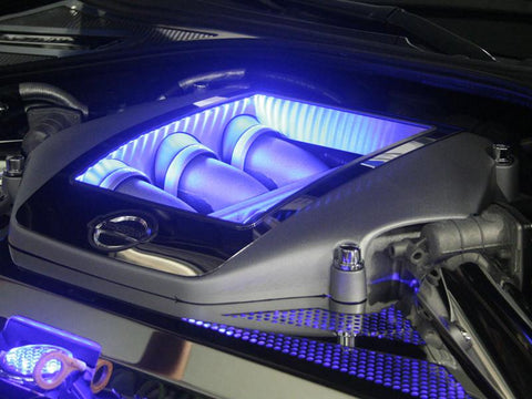 Nissan GT-R Engine Shroud Cover Polished 4Pc Illuminated 2010-2015 American Car Craft
