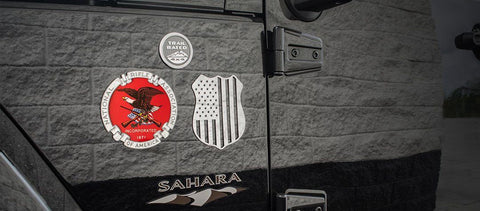 NRA Emblem | 1PC, Polished & Brushed American Car Craft