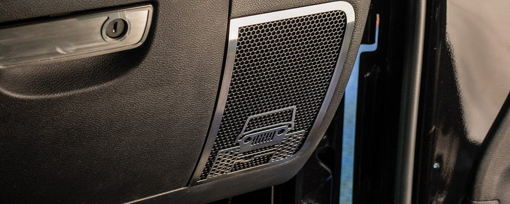 Off Road Speaker Grilles | 2PC [07-18 Jeep Wrangler JK/JKU] American Car Craft