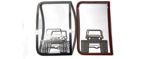 2007-18 Jeep Wrangler JK/JKU- Off Road Speaker Grilles 2Pc | Stainless Steel, Choose Finish