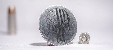 Patriot Skull Dial Shift Knob Trim | Brushed Stainless Steel American Car Craft