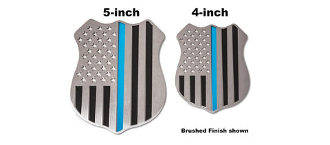 "Police Shield Emblem | 1PC, 5"" or 4"" American Car Craft"