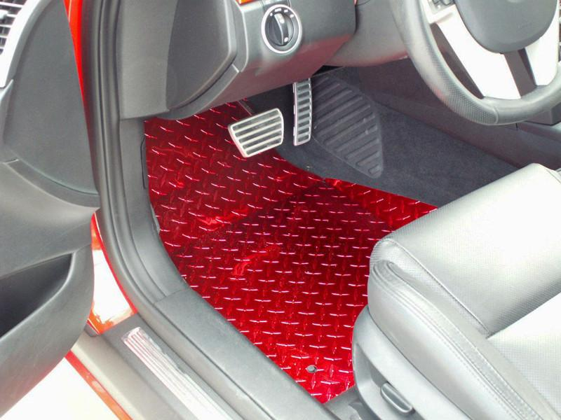 Pontiac G8 Show Floor Mats Diamond Plate Powder Coated 2Pc GT 2008-2009 American Car Craft