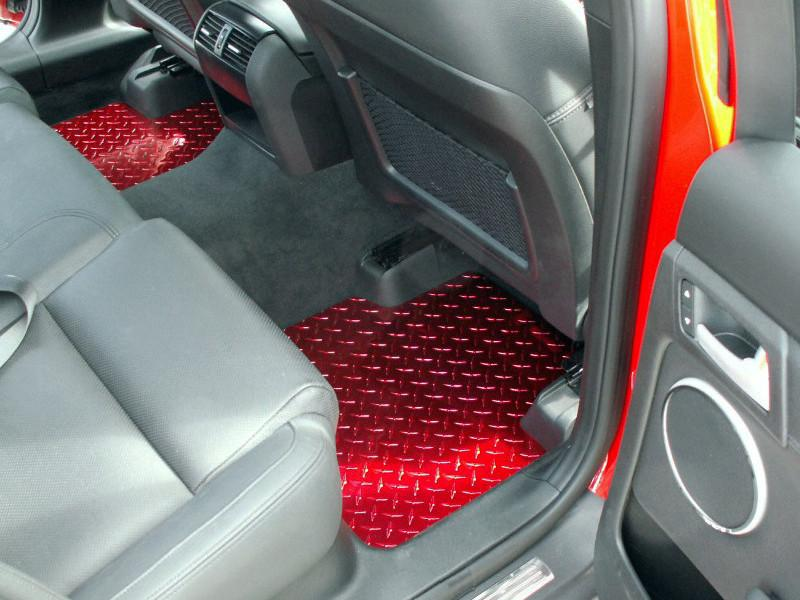 Pontiac G8 Show Floor Mats Diamond Plate Powder Coated 4Pc GT 2008-2009 American Car Craft