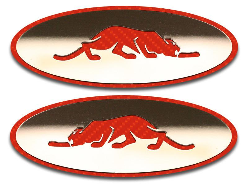 Prowler Side Marker Light Plate with Kat Logo 2Pc Polished 1997-2002 American Car Craft