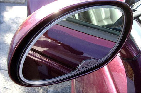 1999-2002 Plymouth Prowler - Side View Mirror Trim with Kat Emblem 2Pc | Brushed Stainless
