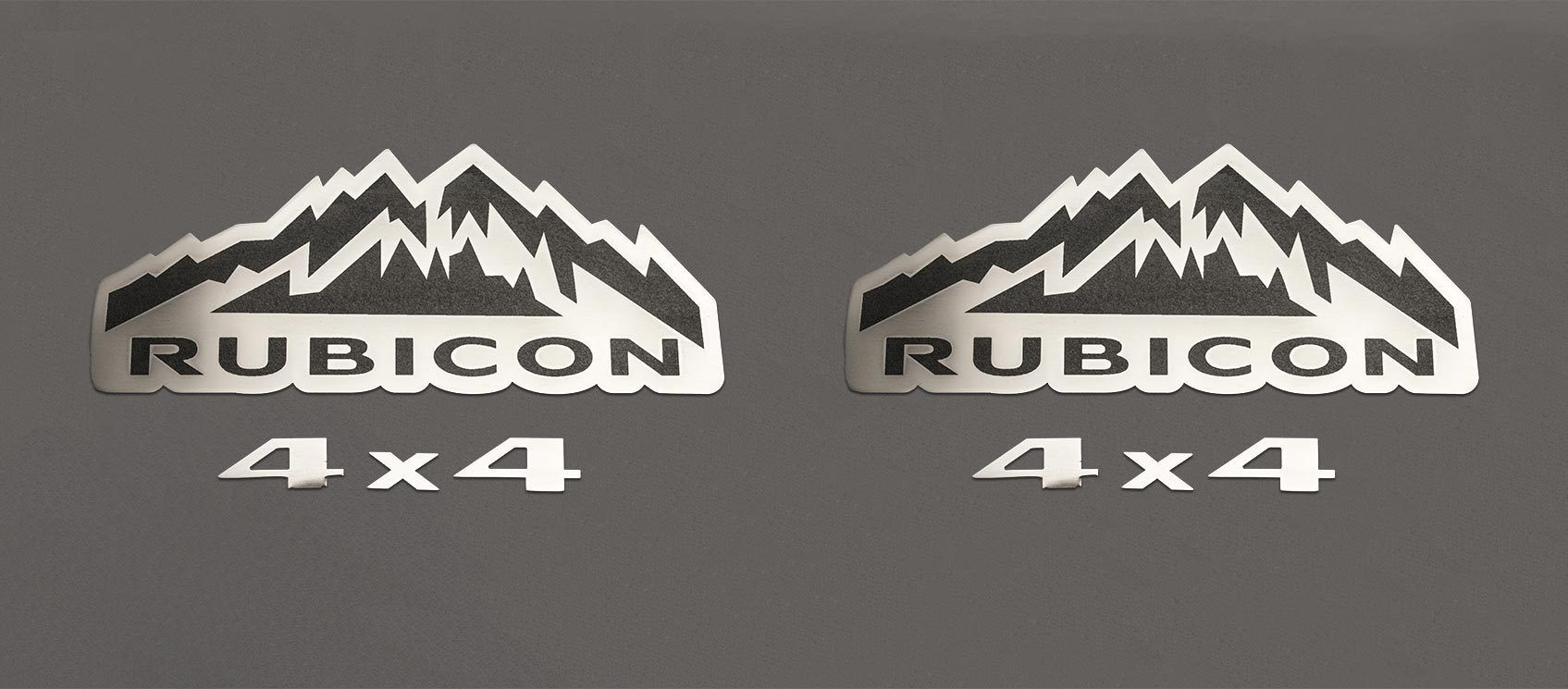 Rubicon 4X4 Badges [07-18 Jeep Wrangler JK] | 2PC American Car Craft