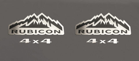 Rubicon 4X4 Badges [07-18 Jeep Wrangler JK] | 2PC