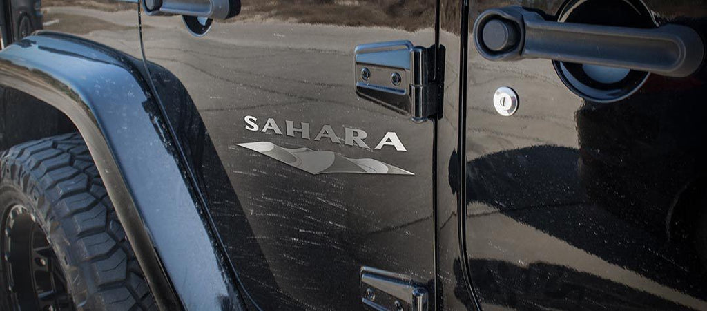 Sahara Badges (07-18 Jeep Wrangler JK) | 2PC American Car Craft