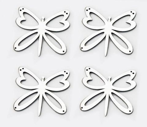 Stainless Steel Sticker Badges - Butterfly 4Pc Set American Car Craft