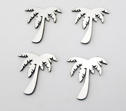 Palm Tree Emblems Stainless Steel 4PC